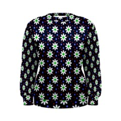 Daisy Dots Navy Blue Women s Sweatshirt