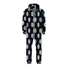 Daisy Dots Navy Blue Hooded Jumpsuit (kids)