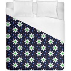 Daisy Dots Navy Blue Duvet Cover (california King Size)