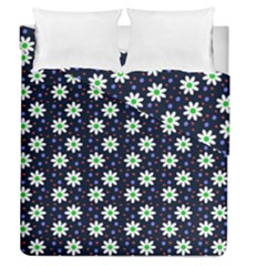 Daisy Dots Navy Blue Duvet Cover Double Side (queen Size)