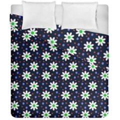 Daisy Dots Navy Blue Duvet Cover Double Side (california King Size)