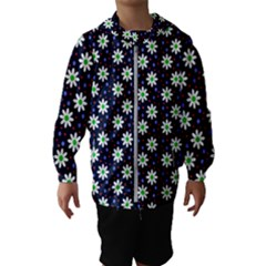 Daisy Dots Navy Blue Hooded Wind Breaker (kids)