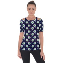 Daisy Dots Navy Blue Short Sleeve Top