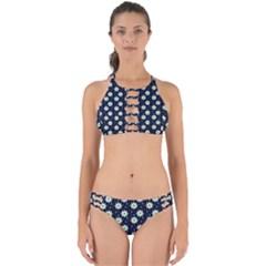Daisy Dots Navy Blue Perfectly Cut Out Bikini Set