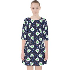 Daisy Dots Navy Blue Pocket Dress