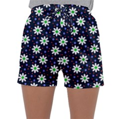 Daisy Dots Navy Blue Sleepwear Shorts