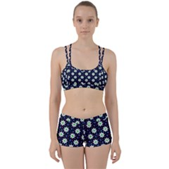 Daisy Dots Navy Blue Women s Sports Set