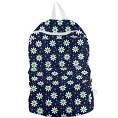 Daisy Dots Navy Blue Foldable Lightweight Backpack