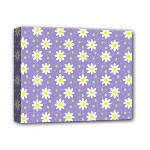 Daisy Dots Violet Deluxe Canvas 14  X 11
