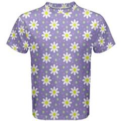 Daisy Dots Violet Men s Cotton Tee