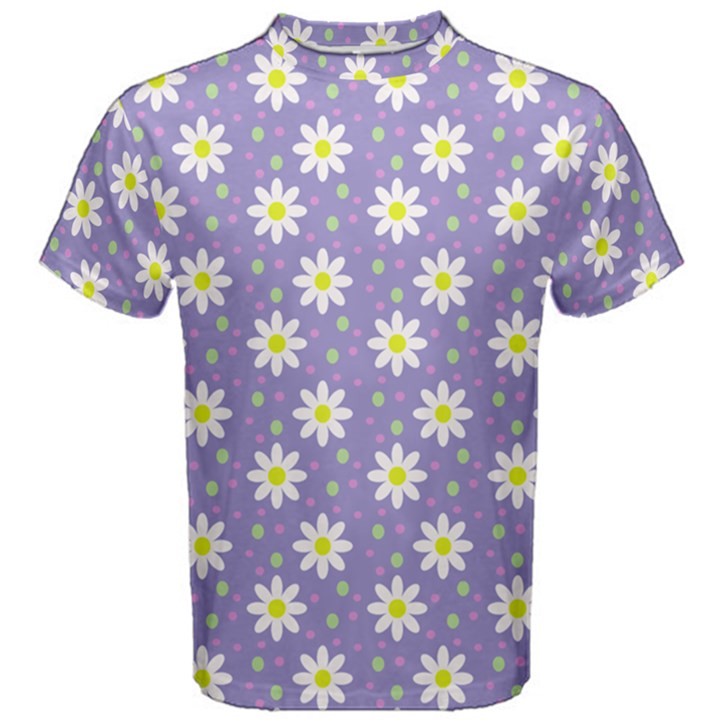 Daisy Dots Violet Men s Cotton Tee