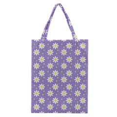 Daisy Dots Violet Classic Tote Bag