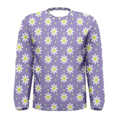 Daisy Dots Violet Men s Long Sleeve Tee