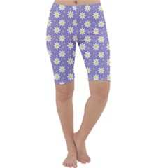 Daisy Dots Violet Cropped Leggings