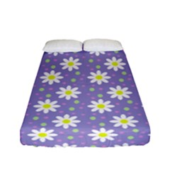 Daisy Dots Violet Fitted Sheet (full/ Double Size)