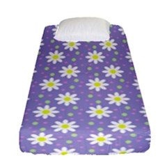 Daisy Dots Violet Fitted Sheet (single Size)