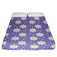 Daisy Dots Violet Fitted Sheet (king Size)