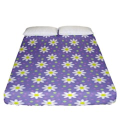 Daisy Dots Violet Fitted Sheet (california King Size)