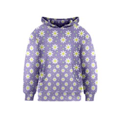 Daisy Dots Violet Kids  Pullover Hoodie