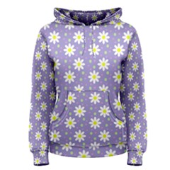 Daisy Dots Violet Women s Pullover Hoodie