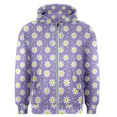 Daisy Dots Violet Men s Zipper Hoodie