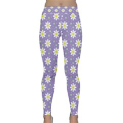 Daisy Dots Violet Classic Yoga Leggings