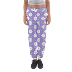 Daisy Dots Violet Women s Jogger Sweatpants