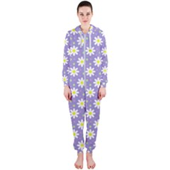 Daisy Dots Violet Hooded Jumpsuit (ladies)