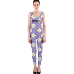 Daisy Dots Violet Onepiece Catsuit