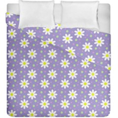 Daisy Dots Violet Duvet Cover Double Side (king Size)