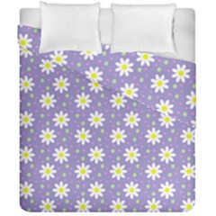 Daisy Dots Violet Duvet Cover Double Side (california King Size)