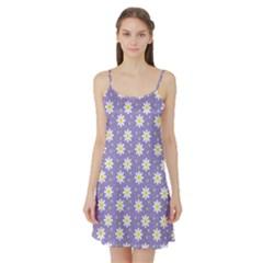 Daisy Dots Violet Satin Night Slip
