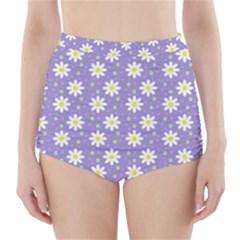 Daisy Dots Violet High Waisted Bikini Bottoms