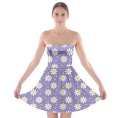 Daisy Dots Violet Strapless Bra Top Dress