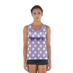 Daisy Dots Violet Sport Tank Top