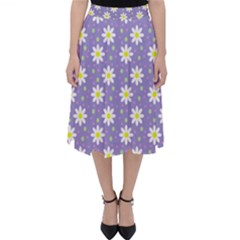 Daisy Dots Violet Folding Skater Skirt