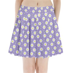 Daisy Dots Violet Pleated Mini Skirt