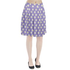 Daisy Dots Violet Pleated Skirt