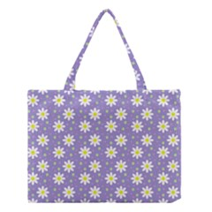 Daisy Dots Violet Medium Tote Bag