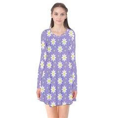 Daisy Dots Violet Flare Dress