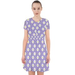 Daisy Dots Violet Adorable In Chiffon Dress