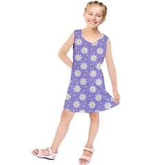 Daisy Dots Violet Kids  Tunic Dress