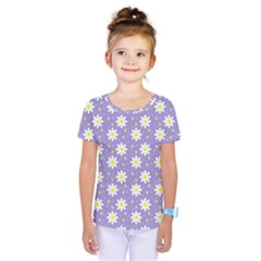 Daisy Dots Violet Kids  One Piece Tee