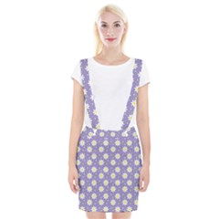 Daisy Dots Violet Braces Suspender Skirt