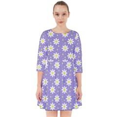 Daisy Dots Violet Smock Dress