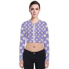Daisy Dots Violet Bomber Jacket