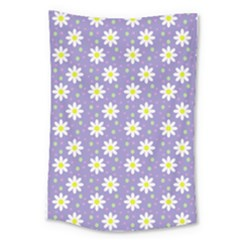 Daisy Dots Violet Large Tapestry