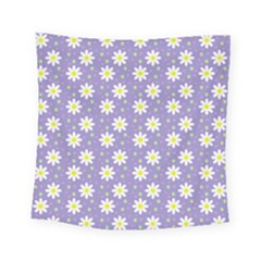 Daisy Dots Violet Square Tapestry (small)
