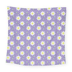 Daisy Dots Violet Square Tapestry (large)