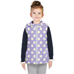 Daisy Dots Violet Kid s Puffer Vest